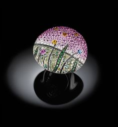 "Palmiero Jewellery Design 'Palmiero's Tales'. Real ""works of art"" where diamonds and precious stones become ""colour"" to paint on a precious canvas, the gold."