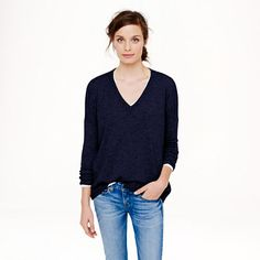 Collection cashmere V-neck boyfriend sweater - Valentine's Day Shop - Women's Women_Feature_Assortment - J.Crew