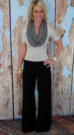 I need a pair of these palazzo pants! Super cute! #privityboutique