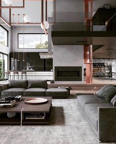 Minimal Interior Design Inspiration in 2020 (With images) Interior Design Examples, Interior Design Inspiration, Home Interior Design, Interior Architecture, Modern Mansion Interior, Interior Paint, Design Ideas, Home Goods Decor, Home Decor