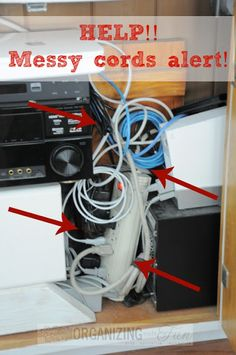 Hometalk :: Organizing Messy Cords!