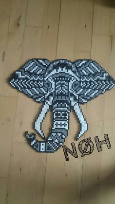 Tribal elephant hama beads by Nathalia Henningsen