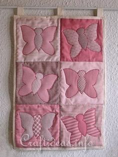Butterfly patchwork quilt with tutorial  http://www.craftideas.info/html/butterfly_quilt_b.html