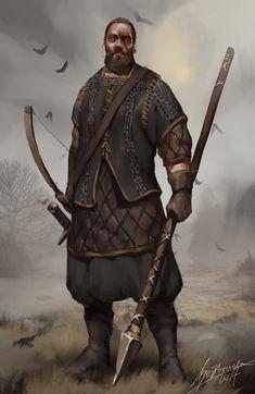 Boar Clan Warrior, Barbara Gołębiewska on ArtStation at https://www.artstation.com/artwork/bQNbk