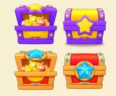 小贱人看什么看采集到素材(1254图)_花瓣 Game Icon, Game Concept, Game Ui, 2d Art, Treasure Chest, Motion Graphics, Game Design, Objects, Typography