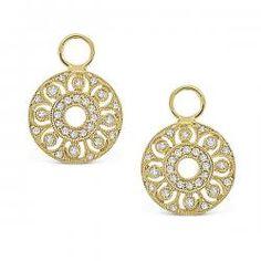 KC Designs Small Diamond Filigree Earring Charms