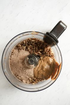 No Bake Brownie Protein Bites using real simple ingredients including collagen whey.