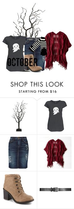 """""""Spooky Cute"""" by echomariejuliet ❤ liked on Polyvore featuring Fantastic Craft, Current/Elliott and American Eagle Outfitters"""