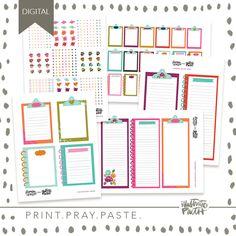 Gratitude Planner Stickers | Bible Journaling Printable Ephemera by Illustrated Faith Faith Bible, Illustrated Faith, Scripture Art, Planner Stickers, Ephemera, Counting, Gratitude, Blessings, Pray