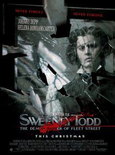 Sweeney Todd: The Demon Barber Of Fleet Street Cinema Posters, Movie Posters, Jonny Deep, Tim Burton Films, Fleet Street, Dark And Twisted, Sweeney Todd, About Time Movie, Love Movie