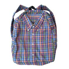 Handmade backpack made from some awesome plaid cotton by ctacik, ฿990.00