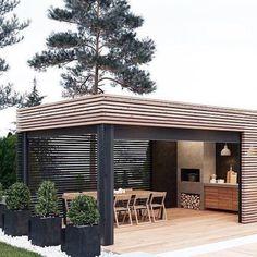 Modern Gazebo, Gazebo Roof, Garden Floor, Outdoor Gazebos, Painting Concrete, Fire Table, Outdoor Living, Outdoor Decor, Outdoor Projects
