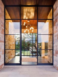 New modern glass front door Ideas Exterior Doors With Glass, Glass Front Door, Glass Doors, Exterior Design, Interior And Exterior, Modern Exterior, Country Interior, Country Furniture, Front Door Design