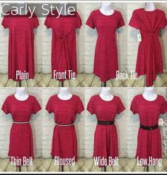 The beautiful LuLaRoe Carly styled 4 ways! This dress is so versatile! www.stylishdragon.com