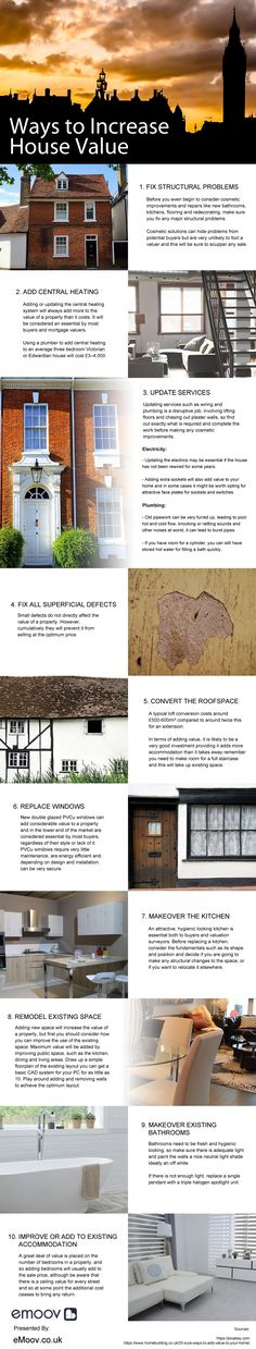 Ways To Increase House Value Infographic