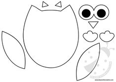 Owl Patterns, Applique Patterns, Owl Crafts, Diy And Crafts, Quiet Book Templates, Baby Owls, Felt Diy, Felt Ornaments, Big Shot