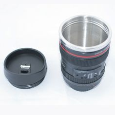 Amazon.com: 24-105mm Travel Coffee Mug / Cup / Thermos with Drinking Lid & Quality Stainless Steel Interior: Camera Lens Coffee Mug: Kitchen & Dining
