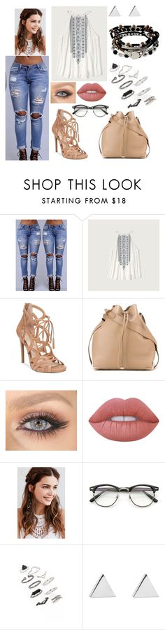 """""""Sem título #990"""" by clariinhafloor on Polyvore featuring moda, Abercrombie & Fitch, Jessica Simpson, Alexander Wang, Lime Crime, REGALROSE, Topshop, Jennifer Meyer Jewelry e Kenneth Cole"""