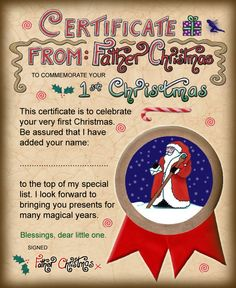First Christmas Certificate