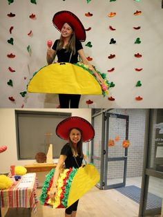 I always love making a costume so when the Mexican Fiesta at youth was coming up I knew I had to go big. So big I made a taco, all I needed was some cardboard, tissue paper, ribbon and a lot of imagination! Was really happy with the result!