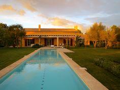 Pool in Mallorca, loving sunset
