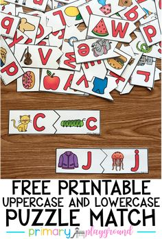 Alphabet activities kindergarten - Free Printable Uppercase and Lowercase Puzzle Match – Alphabet activities kindergarten Alphabet Activities Kindergarten, Pre K Activities, Kindergarten Centers, Learning The Alphabet, Activites For Preschoolers, Preschool Learning Centers, Preschool Literacy, Toddler Learning, Toddler Fun