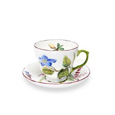 Coffee Cup Set 6 Pieces English Style New Spring Rose Collection Royal Family Sheffield