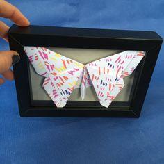 Vitrine papillon10x15 cm origami papillon papier par JeanneZam