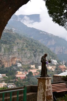 St. Francis of Assissi Statue, Positano, province of Salerno , Campania