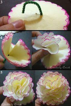 Zaczarowany Galeria: Wykonywanie bibuły bukiet kwiatów z przegrzebków Koło Nestabilities