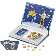 Laat je fantasie de vrije loop met het Magneetboek van Janod. Met de verschillende magneetjes maak je de mooiste plaatjes, het boek is ook voorzien van verschillende voorbeeldkaarten om je een beetje op weg te helpen! Het ideale speelgoed voor thuis, onderweg of op vakantie.