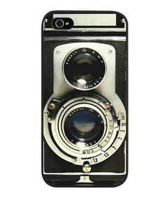 Take a look at this Black Vintage Camera Case for iPhone 5 by CafePress on #zulily today!