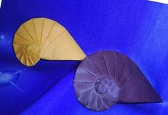 Origami the conch origami tutorial - origami Daquan graphic series finished beautifully displayed map out conch really is from the sea, with the taste of the sea