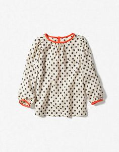 polka dots with contrast binding