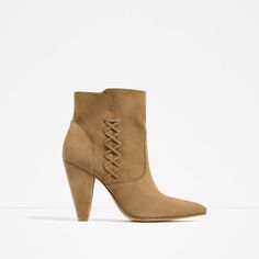 ZARA - COLLECTION SS16 - LEATHER HIGH HEEL ANKLE BOOTS