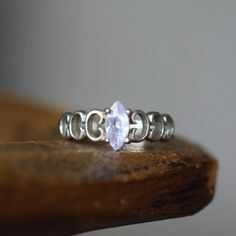 Marquise Gemstone Silver 925 Band, US Size 5.5, Used by OurStoneCollection on Etsy https://www.etsy.com/listing/292425735/marquise-gemstone-silver-925-band-us