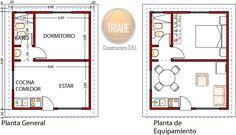 Vivienda 1 dormitorio 34,84m2 - Planos - Viviendas Tríade