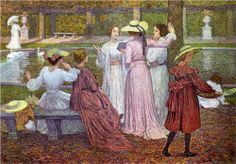 A Reading in the Garden - Theo van Rysselberghe