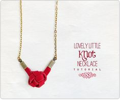 Lovely Little Knot Necklace DIY TUTORIAL