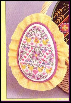 Cross Stitch Patterns EASTER EGG ORNAMENT Baby Chicks Chickens