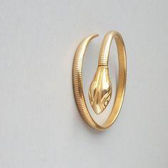 vintage gold fill snake bracelet
