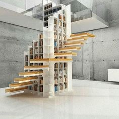 """""""#bookcase #staircase on #designboom"""" Photo taken by @designboom on Instagram, pinned via the InstaPin iOS App! http://www.instapinapp.com (02/07/2016)"""