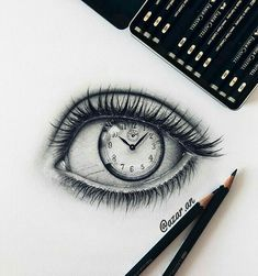 Pencil Drawing Tutorials, Pencil Art Drawings, Cool Art Drawings, Art Drawings Sketches, Unique Drawings, Tattoo Drawings, Illustration Tattoo, Iris Art, Eye Sketch