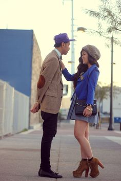 Such a cute couple! :)