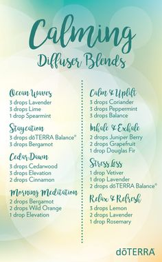 Diffuse these essential oil blends and experience the calming benefits they offer!