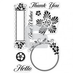 Hero Arts - Clear Stamp - Luscious - Frames