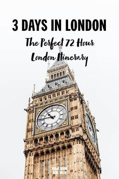 If you only have a short time in London then we have the perfect three-day itinerary for your visit. Filled with iconic landmarks and top attractions all connected with a world-class public transport system, London is the perfect city to spend exploring. Musical London, Highgate Cemetery, Things To Do In London, Westminster Abbey, By Train, London Travel, Public Transport, London England, Big Ben