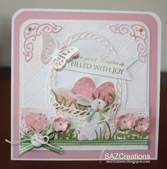 Hope Your Easter Is Filled With Joy..Stamp:Memory Box...By:SAZCreations