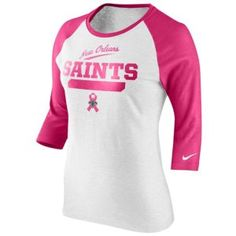 883aa03cc Nike Cincinnati Bengals Ladies Breast Cancer Awareness Crucial Catch Raglan  T-Shirt - White/Pink
