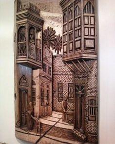 Iraqi wooden art